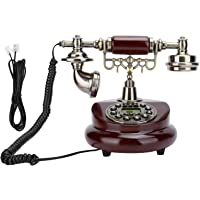 Teléfono antiguo retro, teléfono fijo vintage, función de almacenamiento potente ajustable de tono de llamada para la…