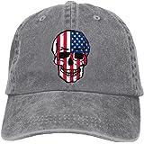 Men And Women Skull American Flag Vintage Jeans Baseball Cap