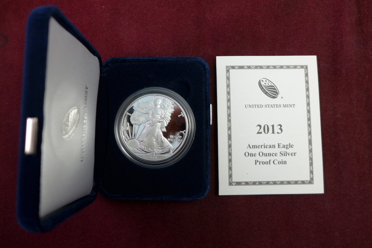 2013 W Silver Eagle Proof Dollar US Mint