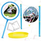 TOY Life Large Bubble Wands for Kids, Giant Bubble Wand Kit Incl Bubble Solution, Tray and Big Bubble Wands Makes Giant Bubbl