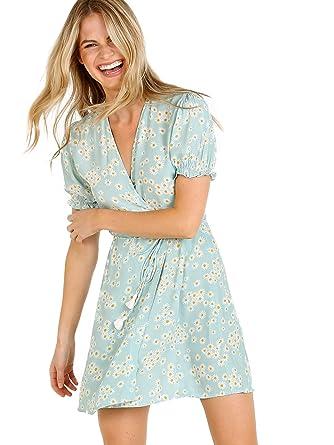 76e4f5a0d63 Faithfull The Brand Women's Mira Wrap Dress, Zhoe Floral Print, X-Small