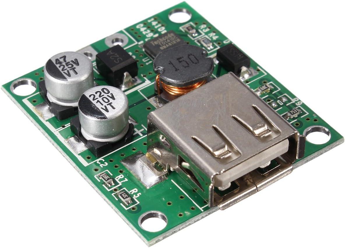 Tutoy 5V 2A Solar Panel Power Bank USB Charge Voltage Controller Regulator Module 6V 20V Input For Universal Smartphone