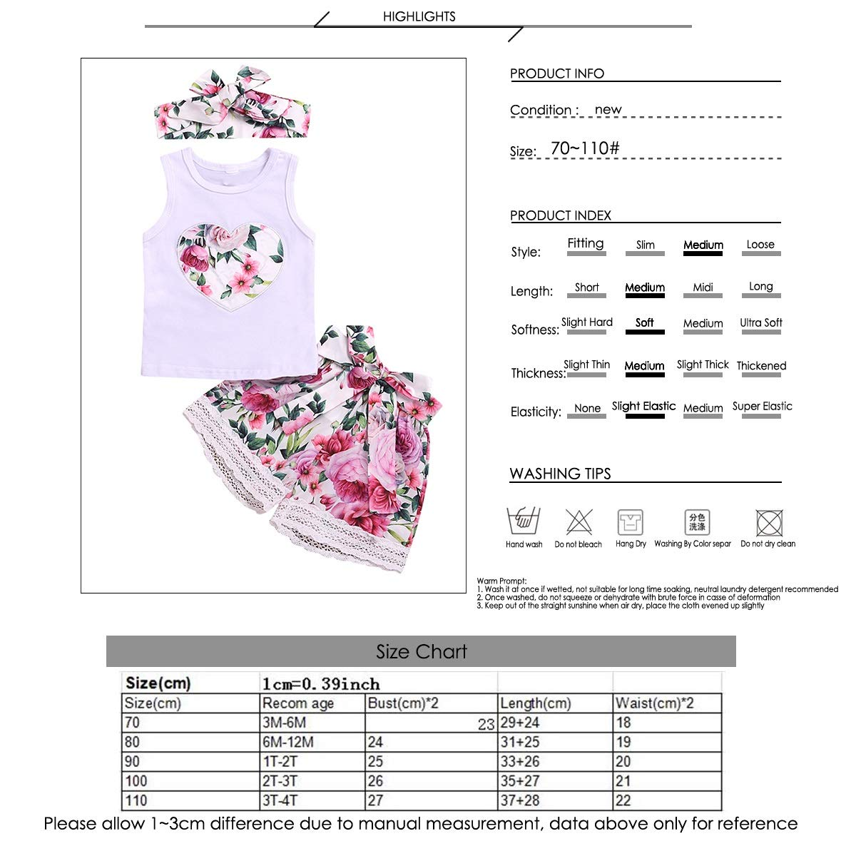 puseky Toddler Kid Girls Feather Sleeveless Vest Top+Shorts+Headband Outfits Set