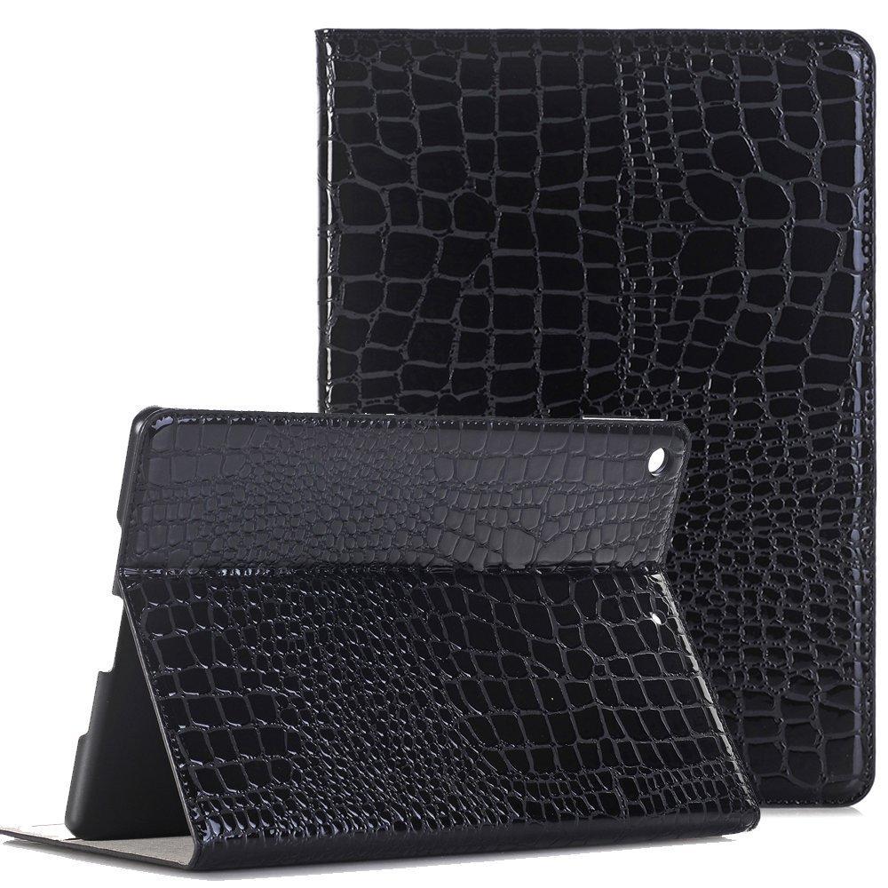 iPad 2 Case iPad 3 Case, Vacio Slim Book Style PU Leather Folio Smart Stand Case Cover with Multi Angle Stand for iPad 2/3/4 (Black)