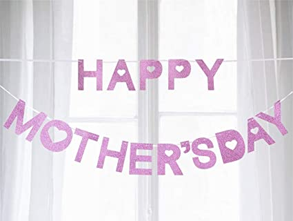 Jollylife Happy Mothers Day Banner Decorations