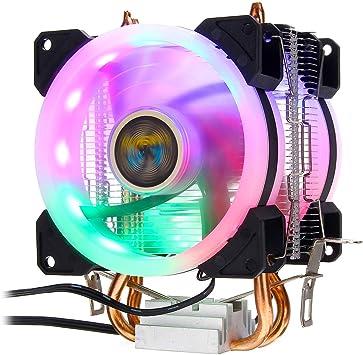 BliliDIY Aurora CPU Cooler RGB Ventilador de refrigeración 4 Pines ...