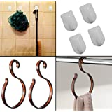 Mabalo Plastic 2 Loop Hangers and KM 4 Self Adhesive Hooks