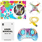 SainSmart Jr. Kids Drone Mini Drone for Kids and Beginner, Camouflage Color Pocket Drone Nano Quadcopter for kids with One Key Take Off/On, Four Brilliant Lights and Headless Mode
