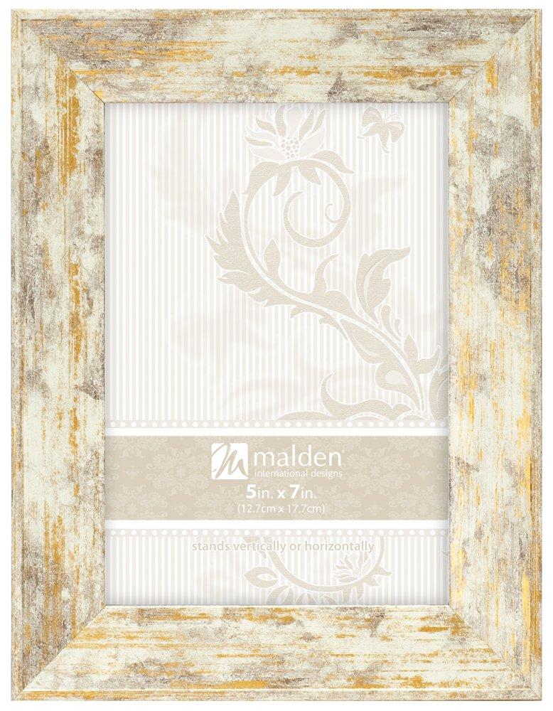 Malden International Designs Gilded Fallon Wash Picture Frame, 5x7, Gold 2312-57