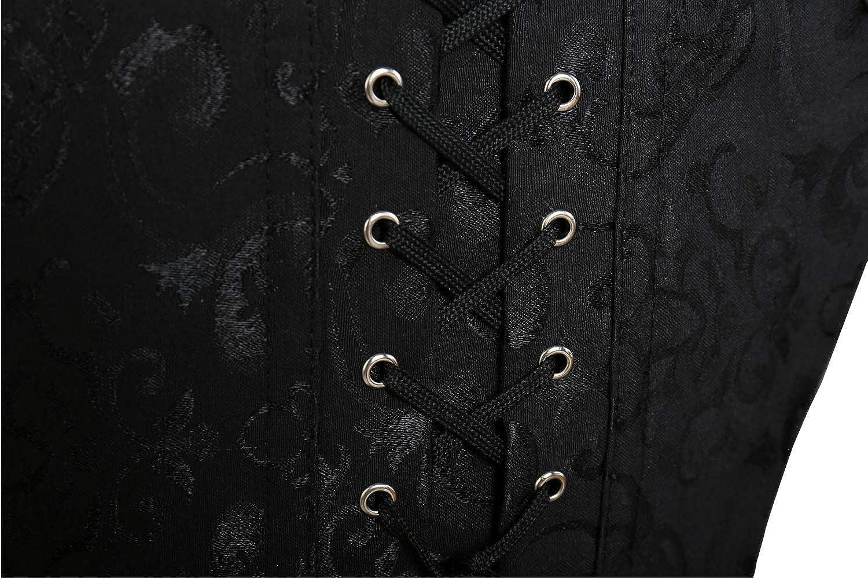 MISS MOLY Donna Burlesque Gotico Underbust Bustino Corsetto Osso dAcciaio Dentro con g-String