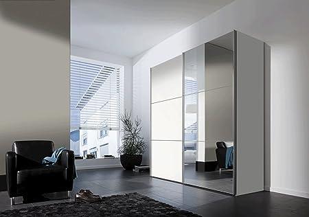 SAM® Armario flotante Puerta de espejo para puerta corredera 200 cm Blanco Bijou: Amazon.es: Hogar