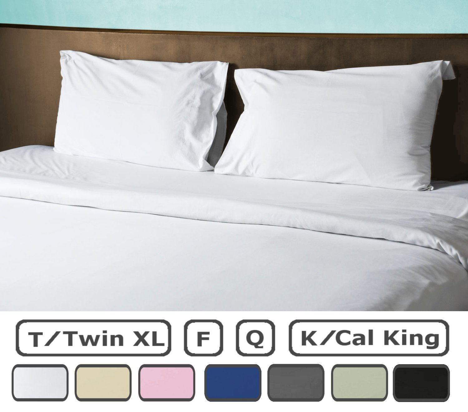 American Pillowcase Twin XL Flat Sheet 100% Brushed Microfiber Bed Sheets - Hypoallergenic Ultra Soft - College Color Dorm Bedding - Wrinkle, Stain Fade Resistant - White