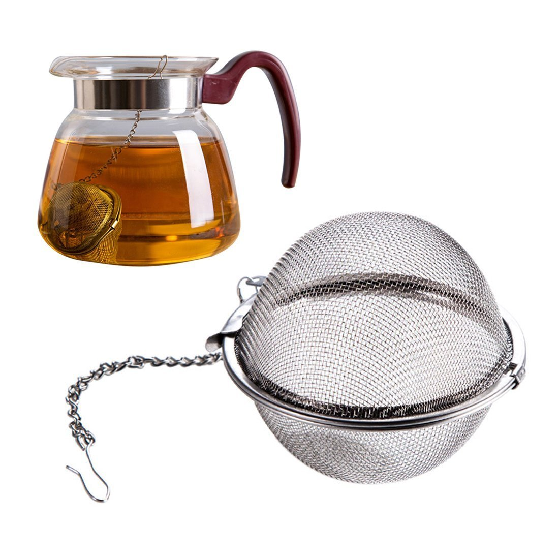 A-szcxtop™ Stainless Steel Tea Ball Infuser with handle UKPPLBDH1153