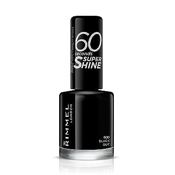 Rimmel Queen Of Tarts 60 Seconds Super Shine Nail Polish Black 8
