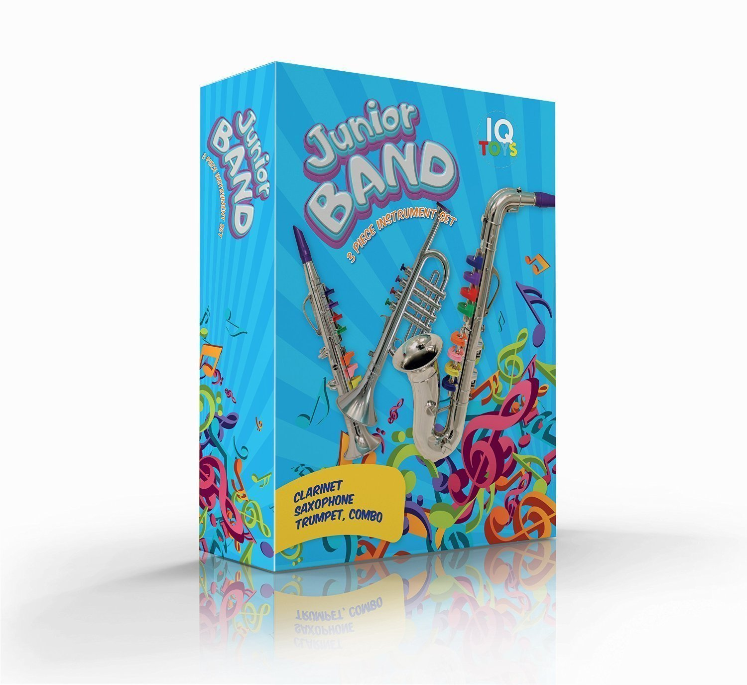 IQ Toys Set of 3 Toy Music Instruments 1. Clarinet 2. Saxophone 3. Trumpet, Combo by IQ Toys (Image #2)