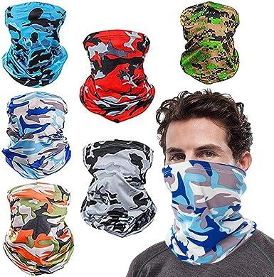 Cooling Neck Gaiter Half Face Cover Scarf Balaclava UV Protection Bandanas