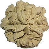 Cotton Scrunchie Set, Set of 10 Soft Cotton Scrunchies, Solid Color Packs (Beige)