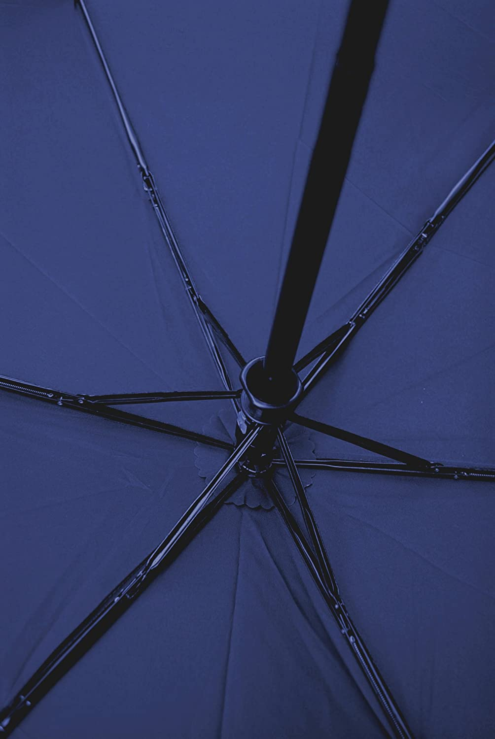 1.5 Inch ULTRA FLAT YET STRONG COLLAR AND CUFFS LONDON Windproof Umbrella Auto Open /& Close Compact Folding Navy Blue