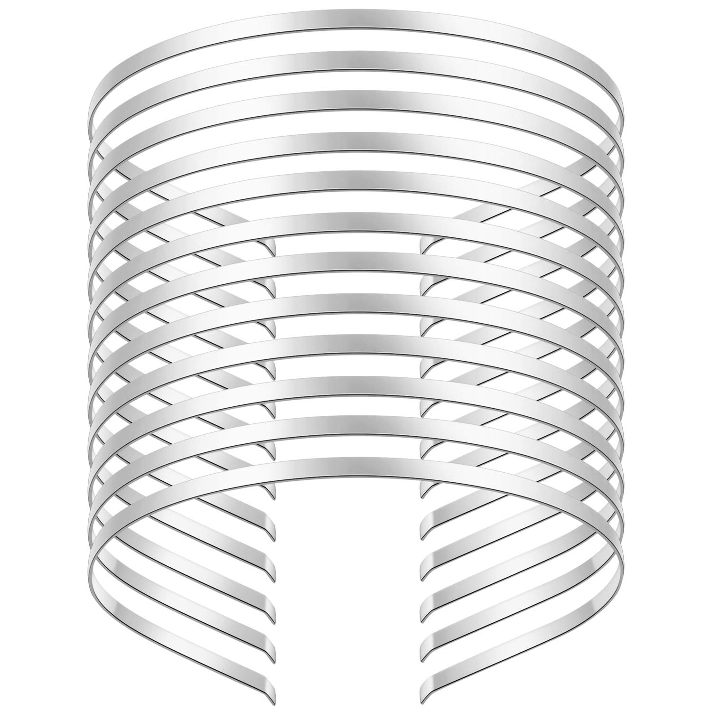 10x Plain Metal Blank Band Headbands lot DIY Making Hair Accessories 4mm