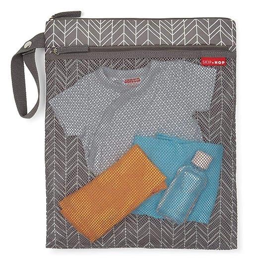 bff60aeb8 Bolsa Impermeável para Roupas Secas e Molhadas Infantil Cinza Wet   Dry Bag  - Skip Hop  Amazon.com.br  Bebês