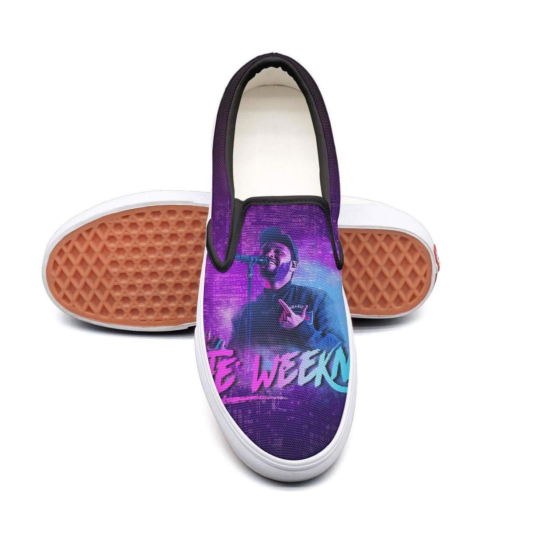 The Weeknd Singing 5.5 B(M) US OUCUI Women Girls TheWeekndNeonCrossPortrait Sneakers shoes for Womens