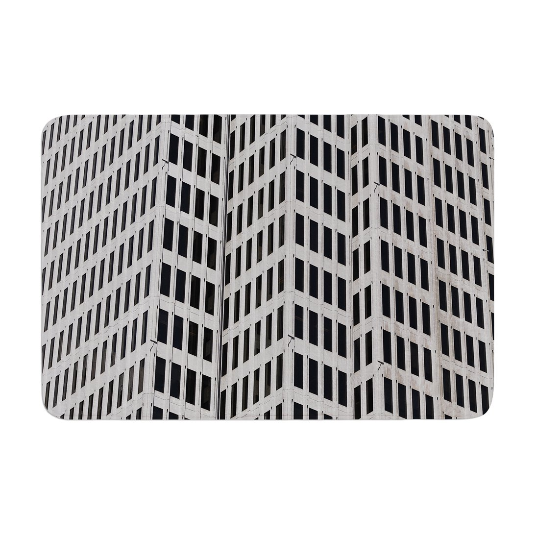 Kess InHouse Maynard Logan The Grid Memory Foam Bath Mat 17 by 24