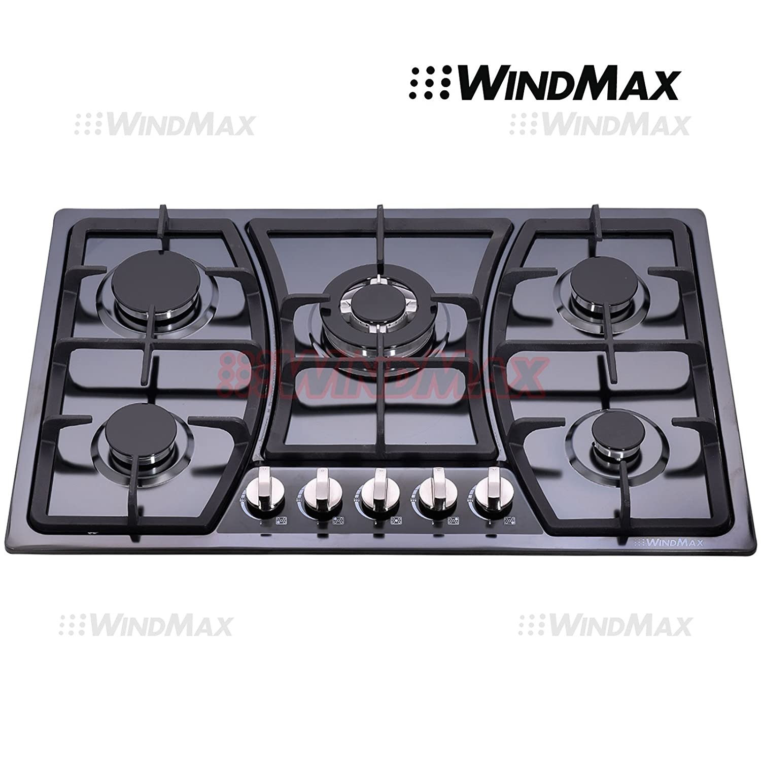 Great Amazon.com: Windmax 30 In Black Titanium Stainless Steel 5 Burners Built In  Stoves NG/LPG Cooktop Cooker: Appliances