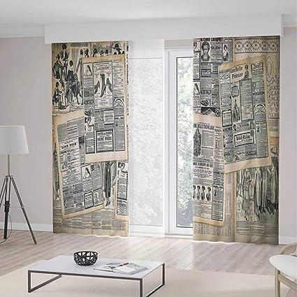 Amazon Com Yoliyana Blackout Curtains Antique Living Room Bedroom