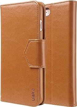 ULAK Premium PU Leather Card Slots Case for 5.5