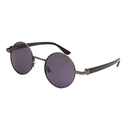 810d5bd124a Image Unavailable. Image not available for. Color  JOHN LENNON 1960 Style  Vintage Small Round Metal Frame Sunglasses GUNMETAL