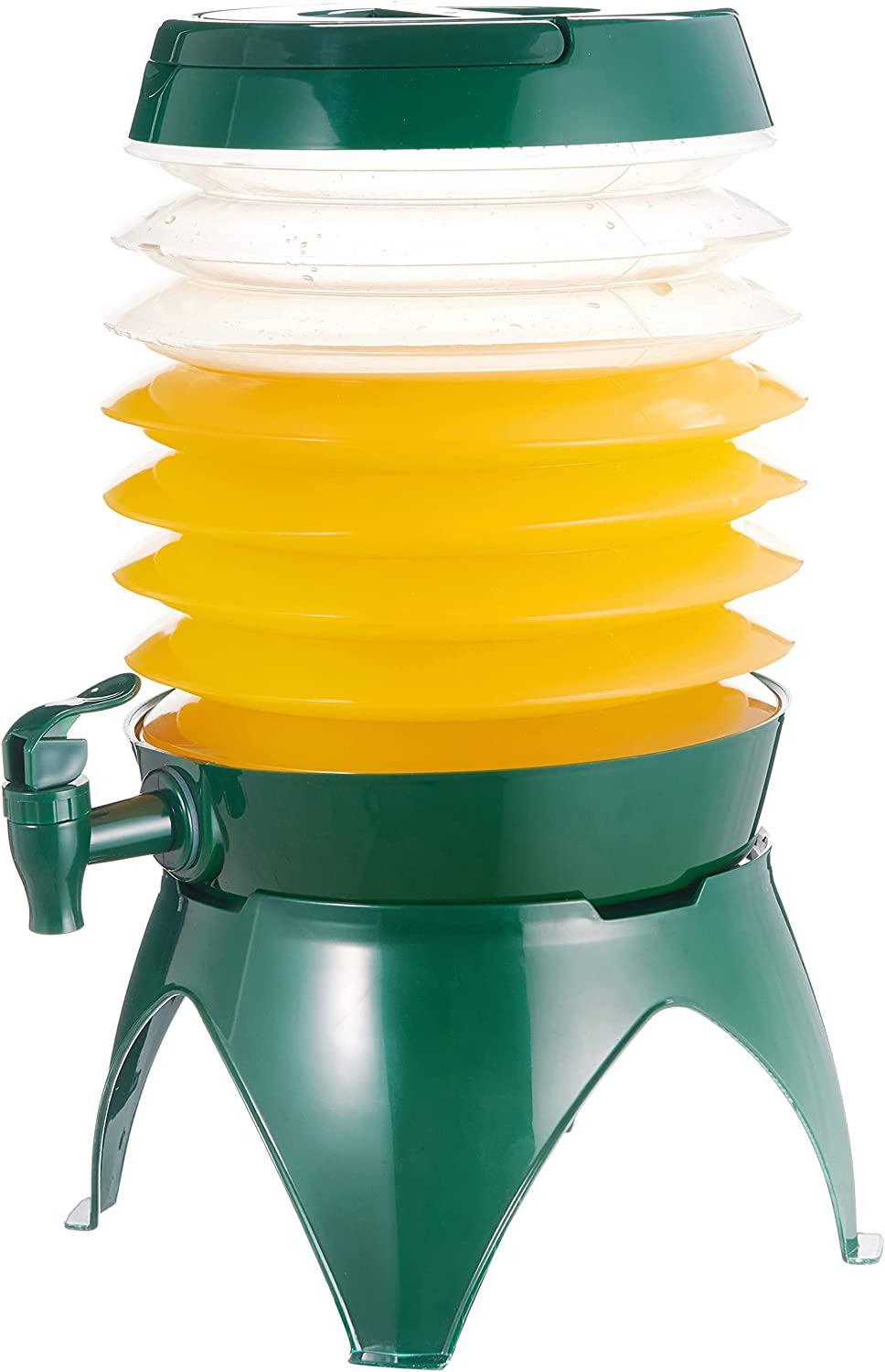 gleehome Plastic Drink Dispenser for Parties,Collapsible Beverage Dispenser with Spigot 1.5 Gal