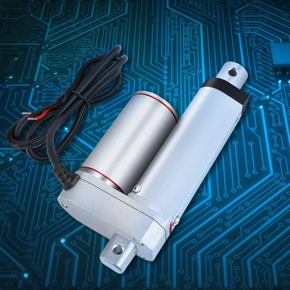 Actuador el/éctrico lineal de alta resistencia DC 12V 6000N Actuador lineal de carrera met/álica de elevaci/ón m/áxima para autom/óvil JS-TGZ-U3 100mm