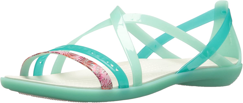 Crocs Womens Isabella Cut Graphic Strappy Flat Sandals