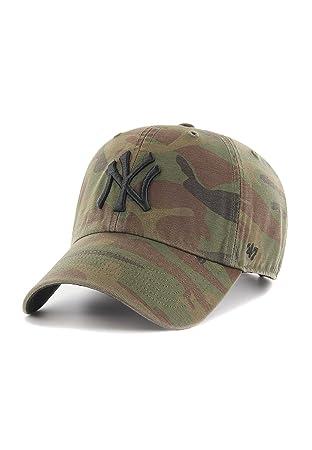 f6a5e8e52b6 47 Brand MLB NY Yankees Regiment Cap - Sandalwood  Amazon.co.uk ...