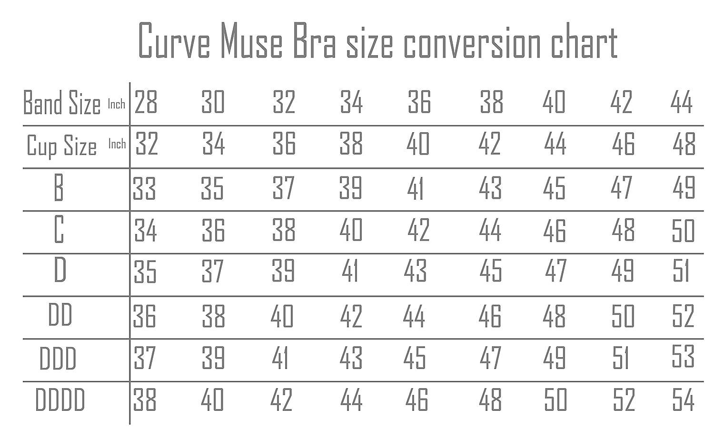 minimizador sin cord/ón Talla Grande Curve Muse para Mujer sin Forro Sujetadores de Cobertura Total