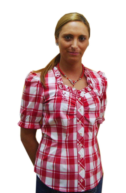 Damen Trachtenbluse rot weiß kariert Esther Spieth & Wensky