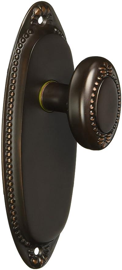 Lydian Door Set With Beaded Oval Knobs Passage Oil Rubbed Bronze. Unique Door  Knobs
