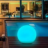 Luz Solar Exterior, 8 Colores Ajustables IP67 Impermeable Luz Solar Exterior Jardin, LED Exterior Solar (Diámetro: 30cm…