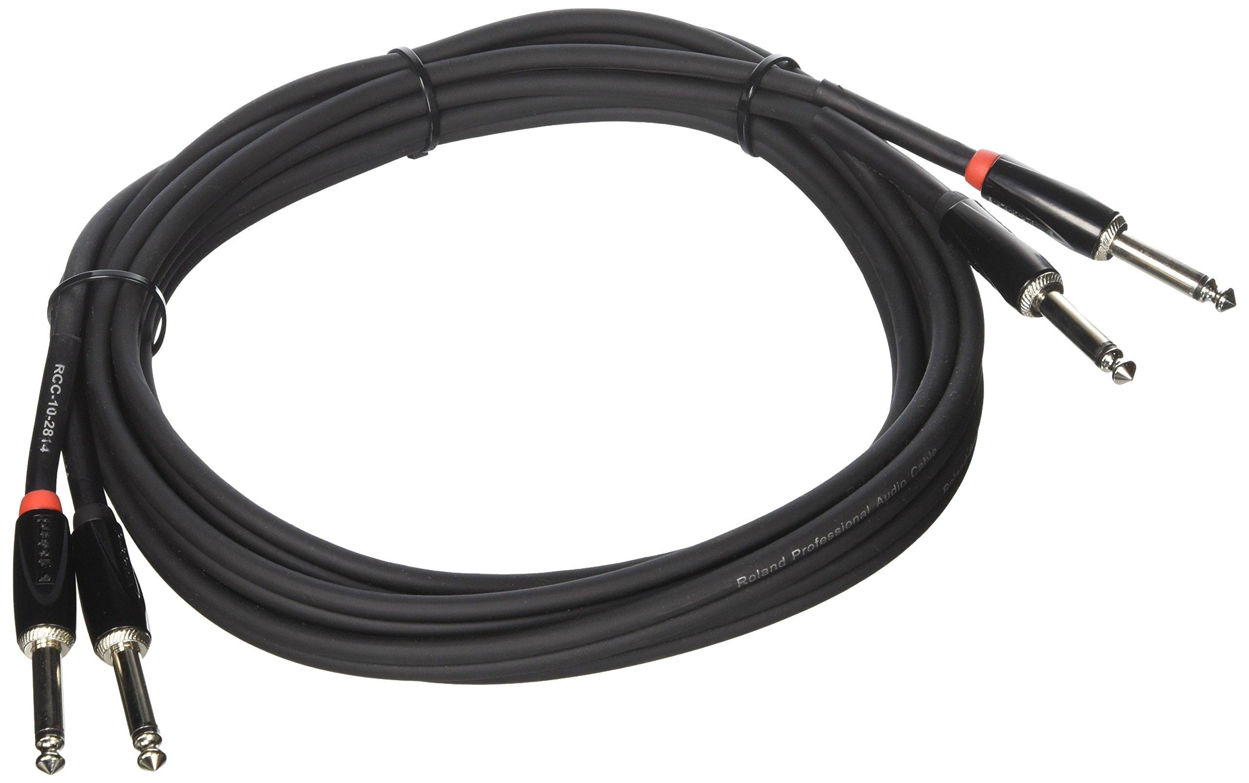 Roland 10ft Interconnect Cable, Dual 1/4''-1/4'', Black series (RCC-10-2814)