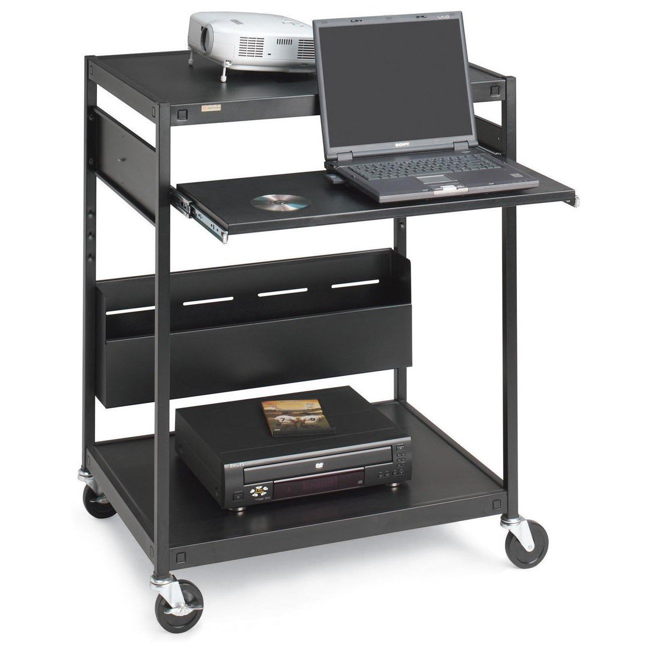 Bretford Interactive Learning Center ECILS1FF-BK - Cart for projector ( rack ) - steel - black - screen size: up to 25