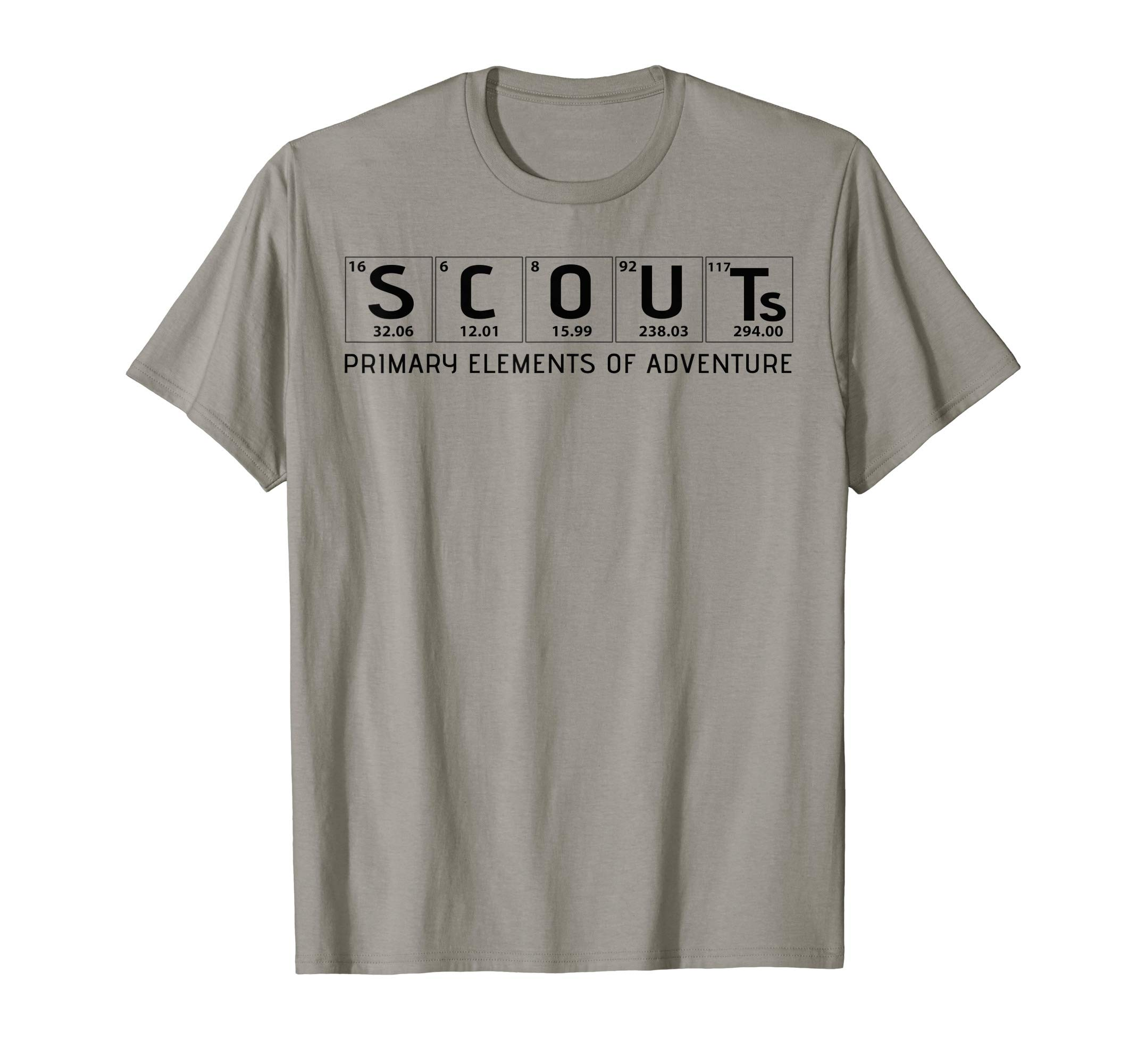 Scouts Primary Elements of Adventure | Scout Science T-Shirt by Cub Camping Hiking Scouting Gifts
