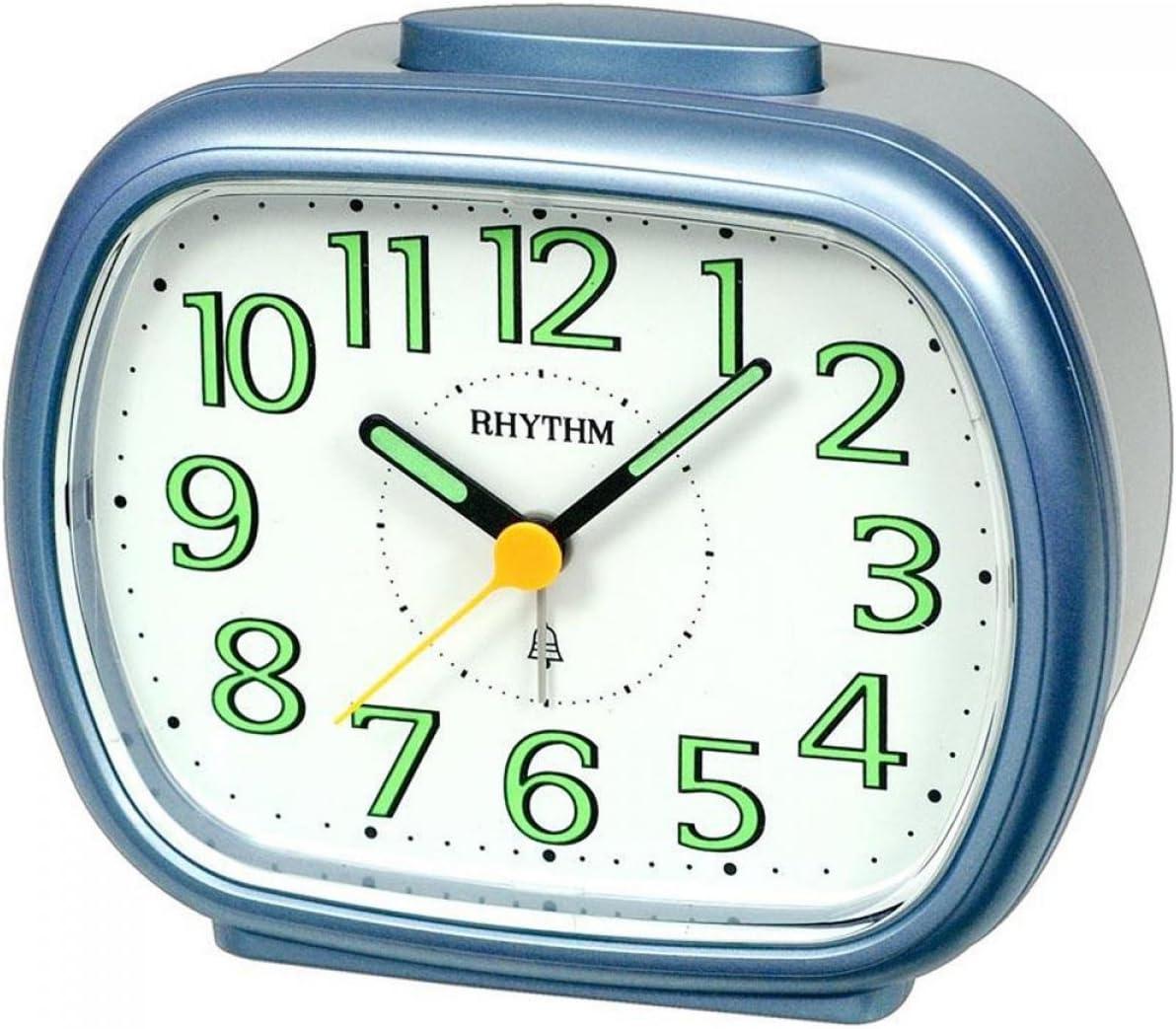 Rhythm 70837/9 Reloj de Cuarzo Color Azul/Gris Muy Silencioso con Repetición con Señal de Campanas