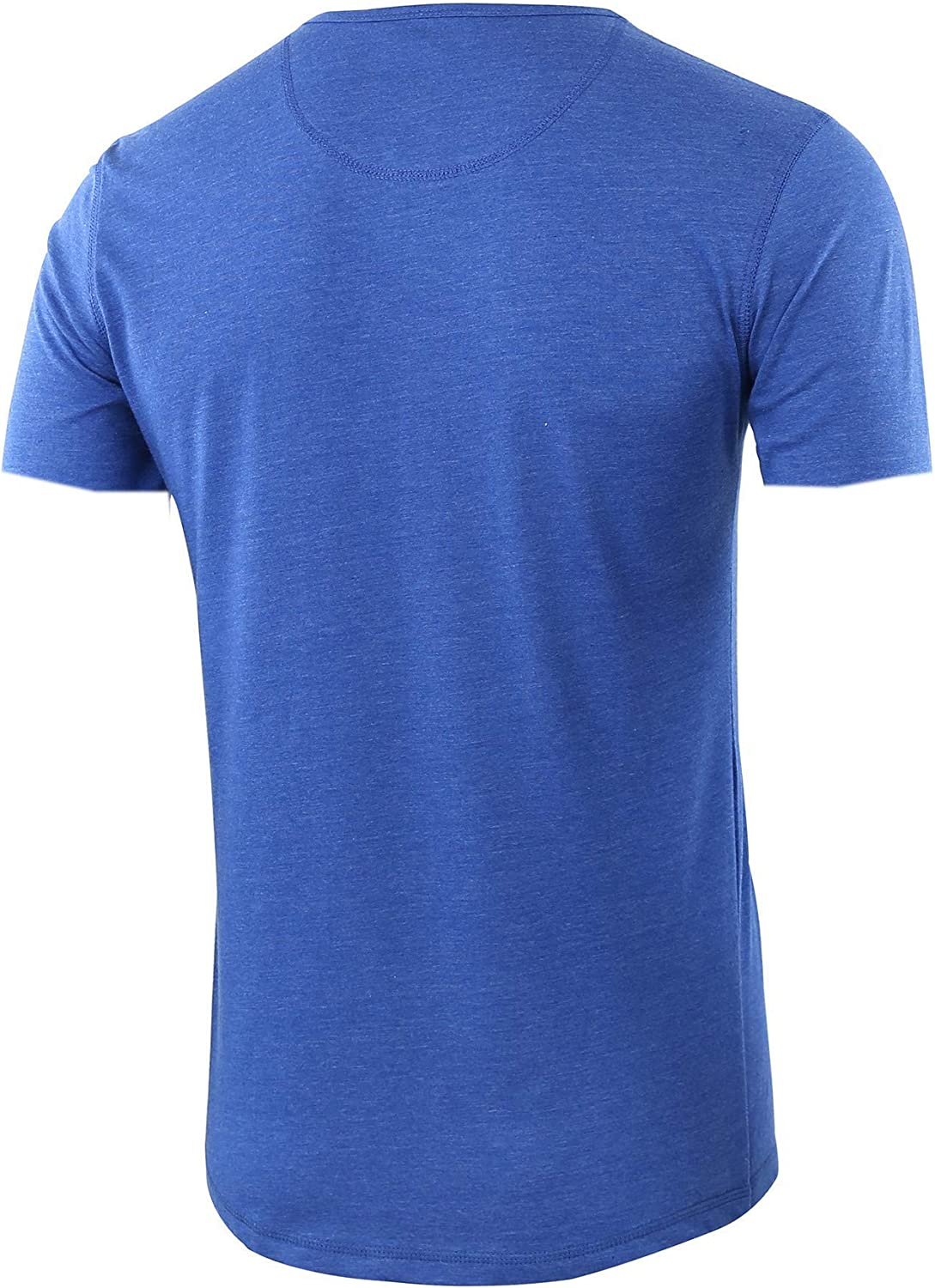 Oritina Mens Casual Soft Solid Retro Workout Gym Short Sleeve Henley Tee Shirt