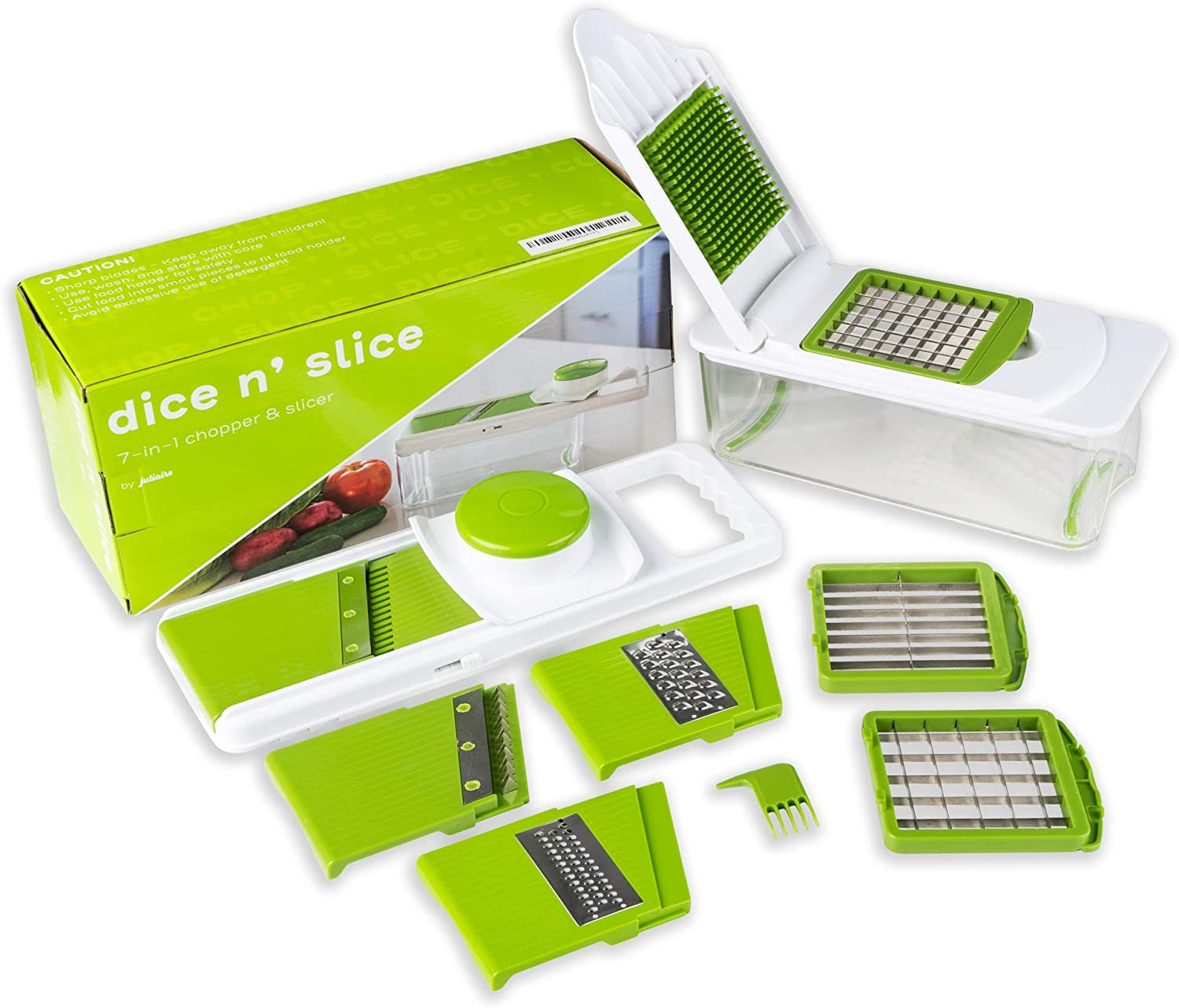Dice n Slice Vegetable Chopper and Slicer, Kitchen Gadget with Grater, Mandoline, and More