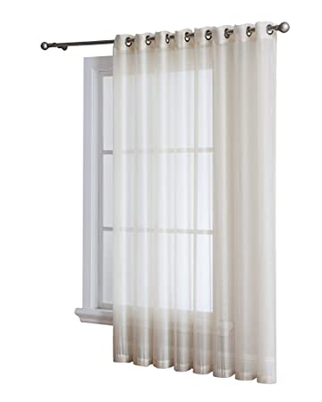 Amazoncom Grommet Semi Sheer 1 Extra Wide Patio Curtain Panel