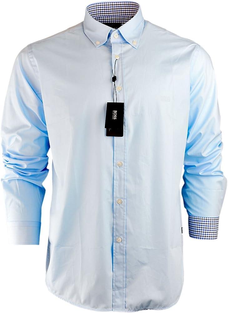 BOSS Hugo Camisa Casual - Básico - con Botones - para Hombre Azul Azul Celeste Small: Amazon.es: Ropa y accesorios