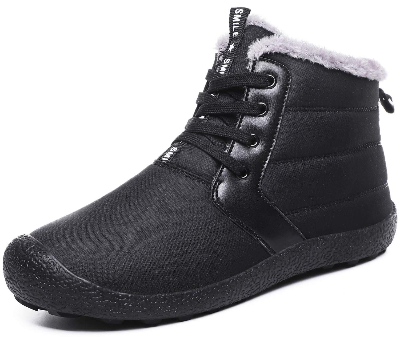 [Sixspace] スノーブーツ メンズ レディース ショート ブーツ スノーシューズ 防水 防寒 防滑 保暖 裏起毛 冬用 カジュアル 綿靴 雪靴
