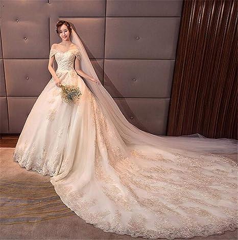 am besten wählen bieten eine große Auswahl an 50-70% Rabatt He-shop Hochzeitskleid Brautkleid mit Einer Schulter Spitze ...