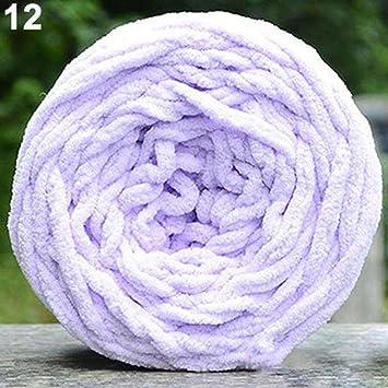 globaldeal DIY suave bufanda Jersey toalla hilo grueso pelota mano tejer crochet Craft regalo – negro