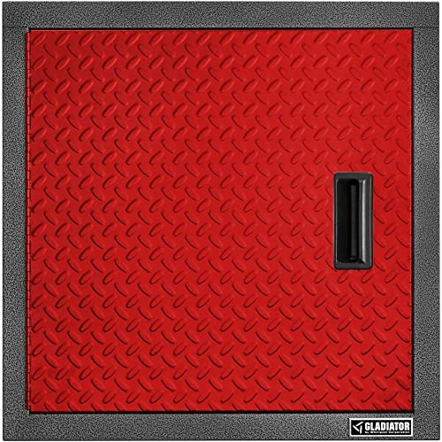 Gladiator GAWG241DDR Pre-Assembled Steel Cabinet, 24 , Red Tread